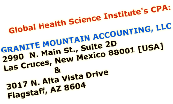 Global Health Science Institute's CPA [Certified Public Accountant]