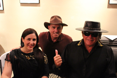RockOnEsteban and Teresa Joy and myself after a concert at the Rio Grande Theatre in Las Cruces, New Mexico.