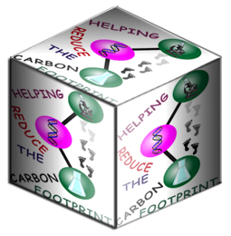 HELPING THE CARBON FOOTPRINT cube.