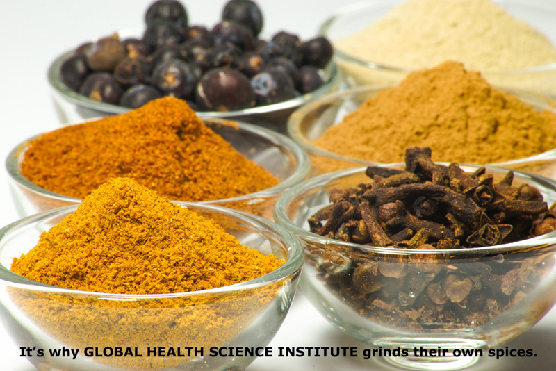 Why Global Health Science Institute grinds their own spices!