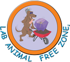 Lab Animal Free Zone logo.