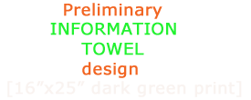 Preliminary INFORMATION TOWEL design for #NotAToxicAsset