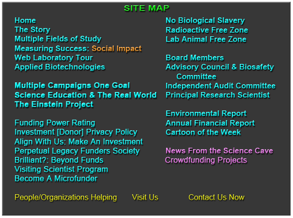 Site Map for Global Health Science Institute.