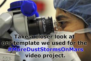 Take a closer look at our crowdfunding template for #MoreDustStormsOnMars.